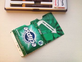 gum wrapper - before