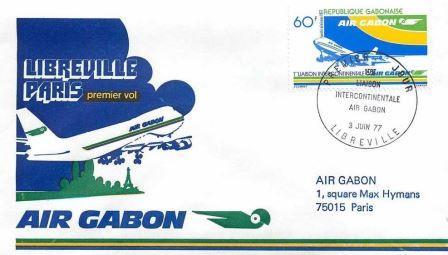 Air Gabon Libreville Paris 1977