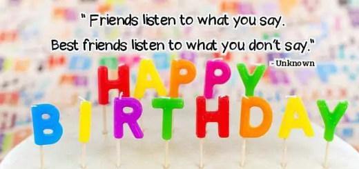 Happy Birthday Best Friend