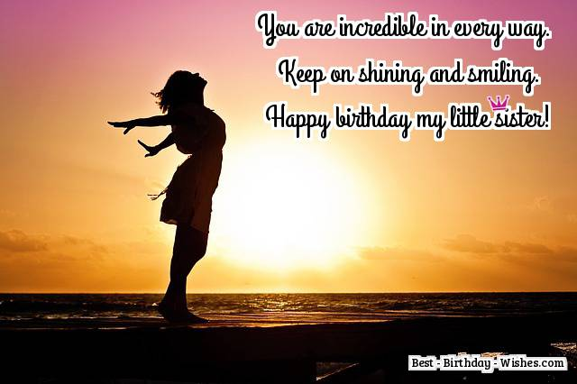 65 birthday wishes for sister messages quotes for a sisters happy birthday little sister m4hsunfo