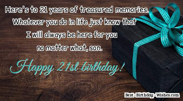 21st birthday wishes what to write in a 21st birthday card 21st birthday wishes for son bookmarktalkfo Gallery