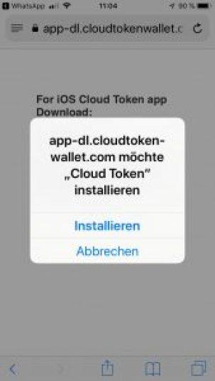 Cloud Token App Anleitung