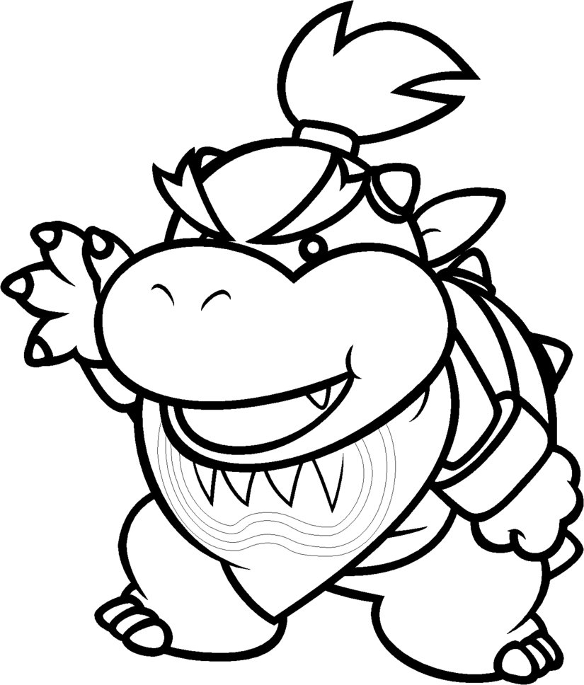 Dry Bowser Free Coloring Pages On Masivy World 153 64 Ds At Book