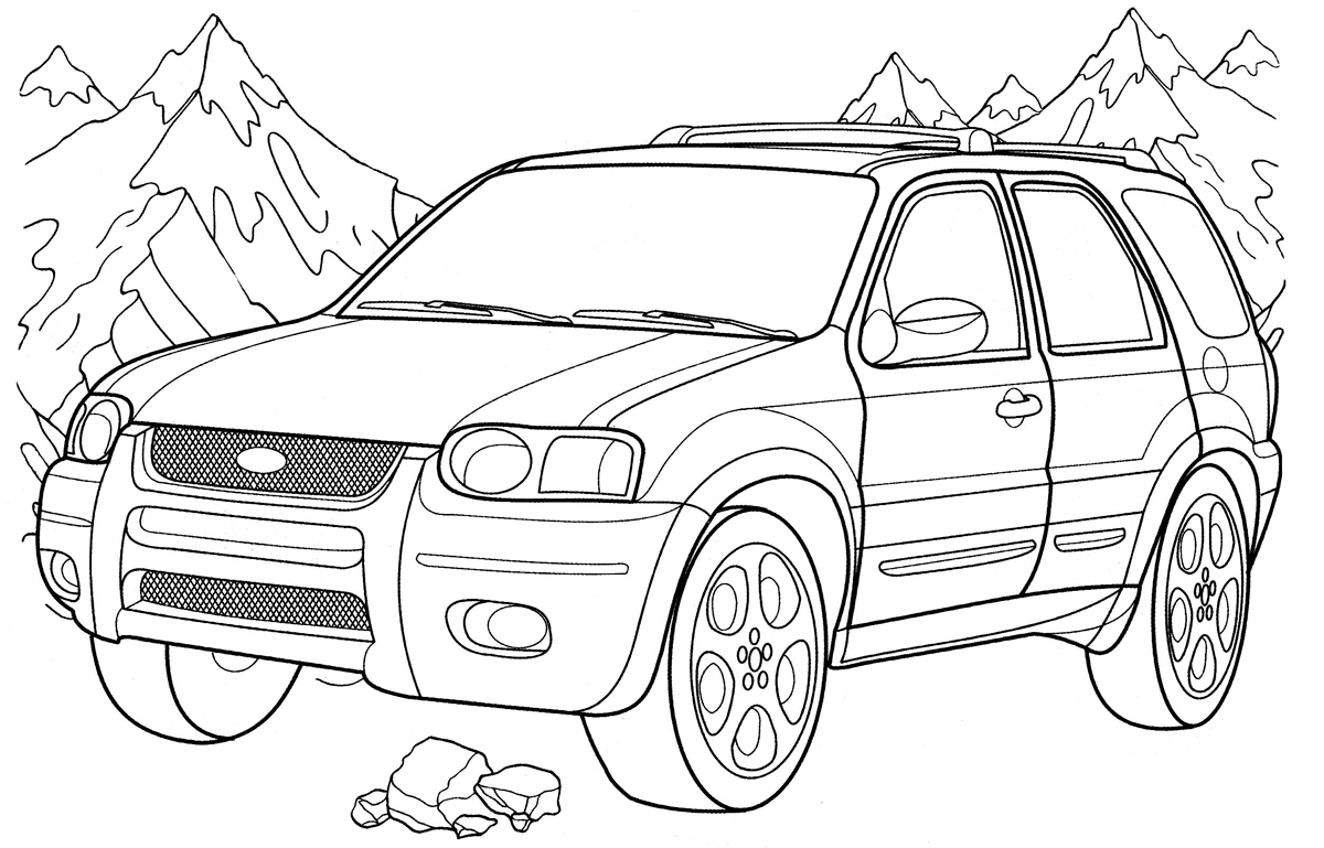 Coloring Pages Trucks Ford