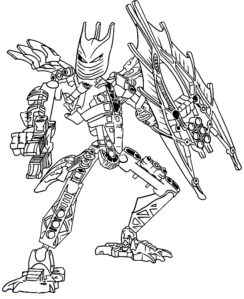 Bionicle Coloring Pages Tahu Lego