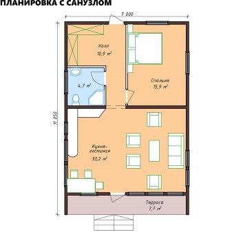 Быстровозводимый модульный дом из ЛВЛ бруса