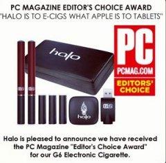 Halo Electronic Cigarettes G6 Wins PCMag Editor's Choice Award