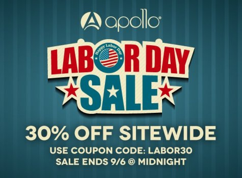 Apollo 30 off storewide code labor30 sept 6