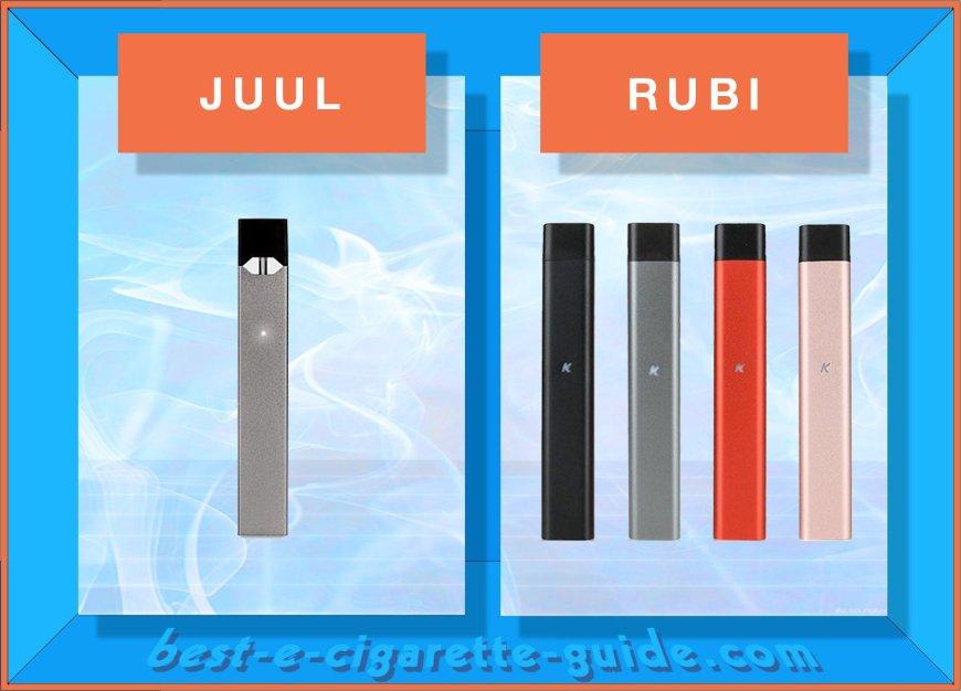 Juul vs Rubi vape pod pens