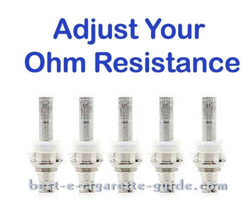 adjust ohm resistance