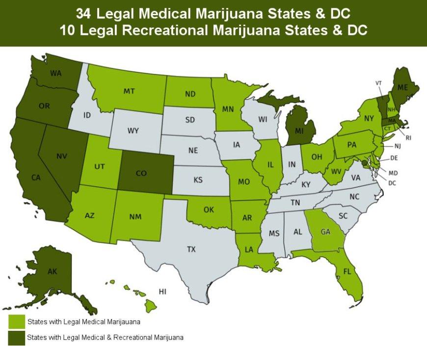 Medical Marijuana Map 2019