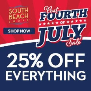 South Beach Smoke extended Fourth of July Sale