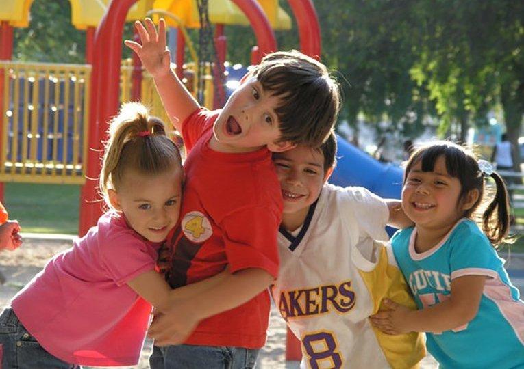 Happy kids in Park