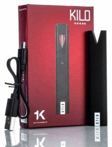Kilo 1K vape pod pen box, battery and charger