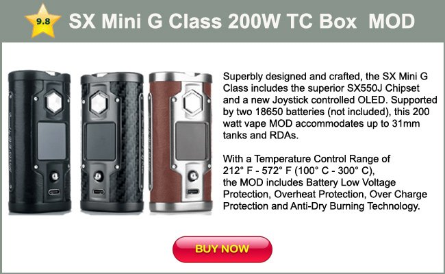 SX Mini G Class 200W TC Box MOD mini review