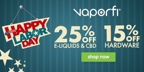 Vaporfi Labor Day Sale