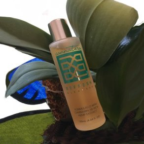 Cannatera Refresh Cleanser with leaves