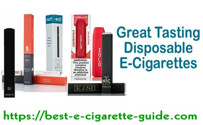 Great Tasting Disposable E-Cigarettes Title Image