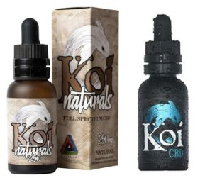 Koi CBD tincture and ejuice