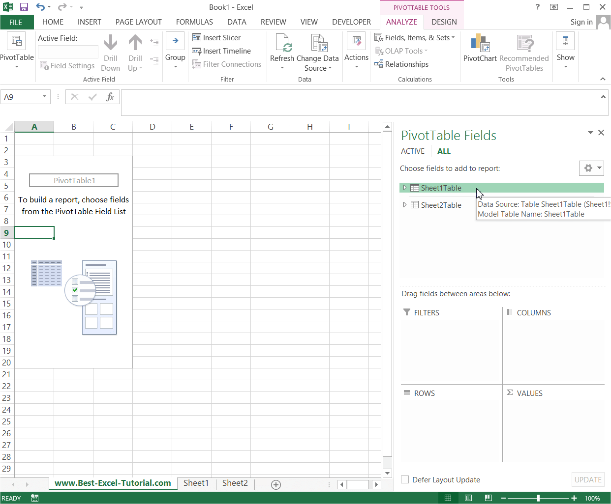 How To Create Pivot Table From Multiple Sheets Excel