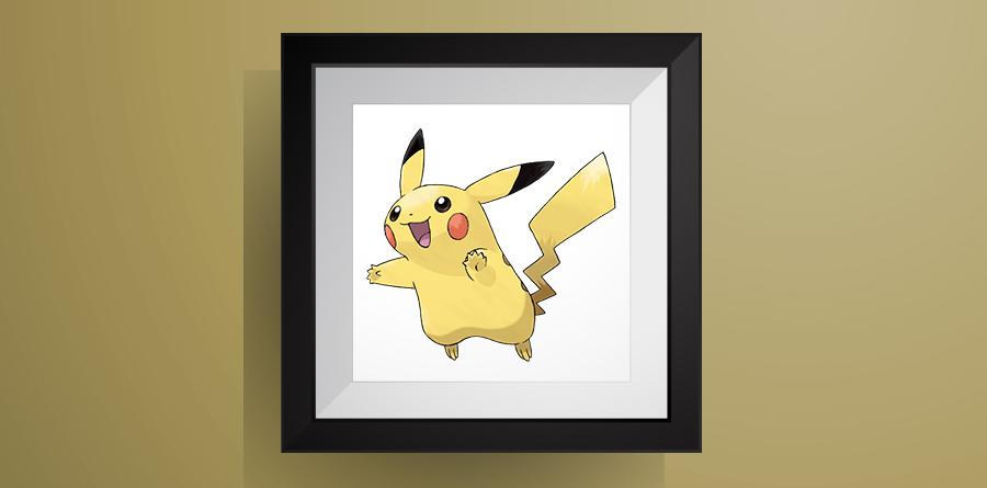 ピカチュウのアイロンビーズ図案!【ポケモン】Pikachu