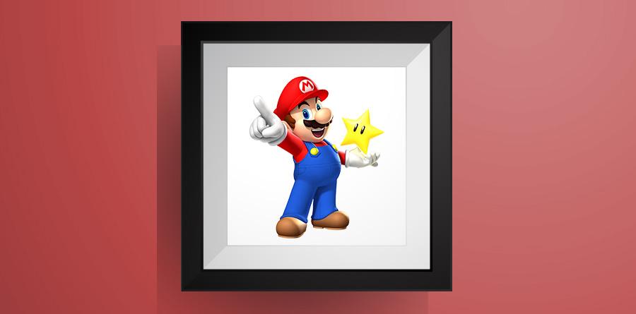 マリオの色々なポーズ【マリオワールド】のアイロンビーズ図案! Super Mario