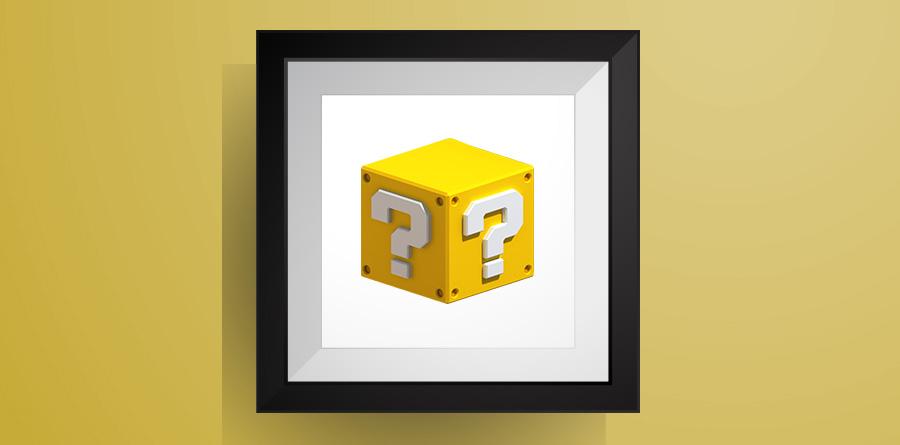 ハテナブロック【マリオワールド】のアイロンビーズ図案!Question Block