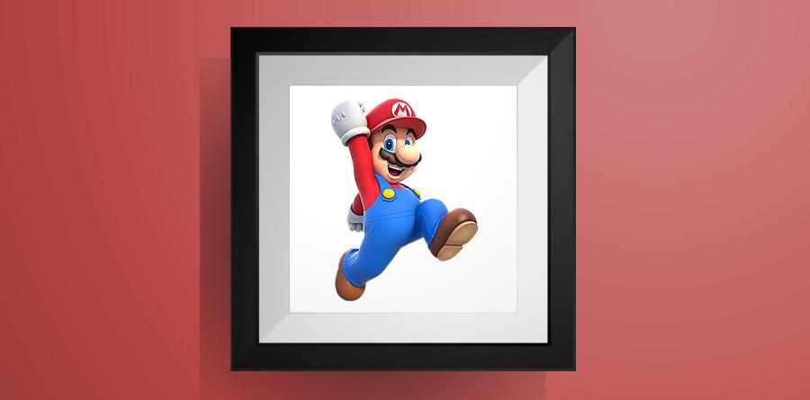 チビマリオの色々なポーズ【マリオワールド】のアイロンビーズ図案 Small Size Mario
