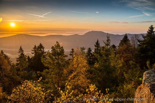 Sunrise over the Upper Rhine valley
