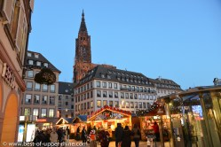 Christmas market at Gutenberg square in Strasbourg