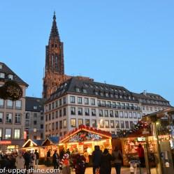 Christmas market at Gutenberg square in Strasbourg