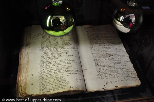Manuscript kept in the Humanist Library of Selestat in Alsace. Dating back to 1521 and presenting the first known mention of a Christmas tree
