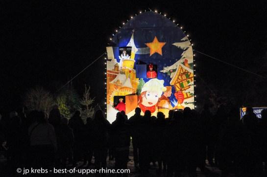 Giant Advent Calendar in Osthouse, Alsace. Christmas Trails 2012.