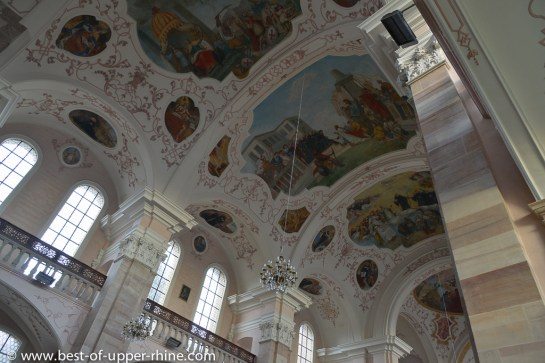 Abbey church of Ebersmunster: ceiling paintings