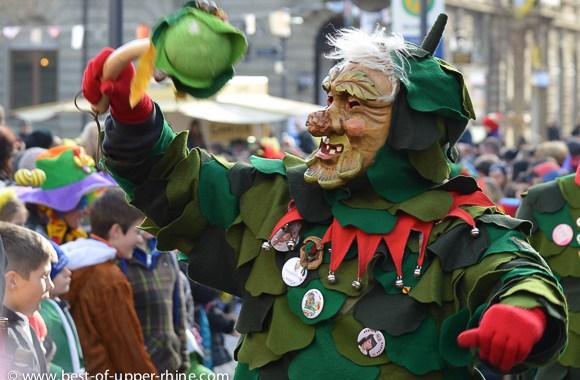Carnival character in Emmendingen, Germany