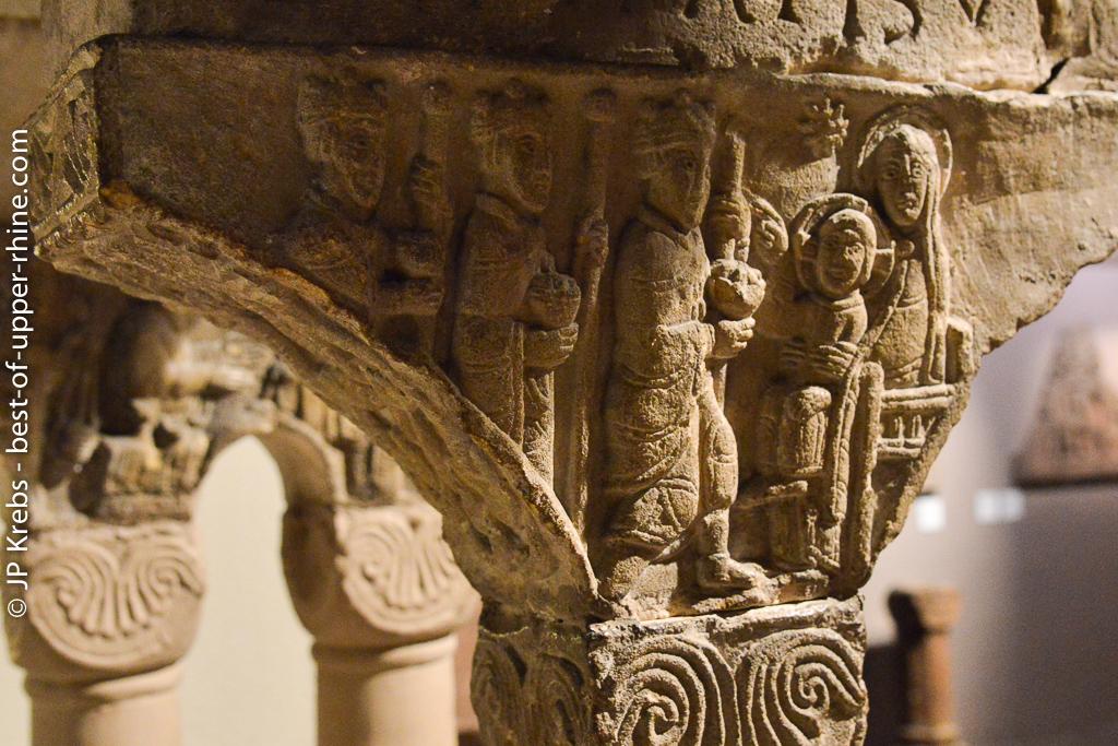 The Magi. Romanesque sculpture.