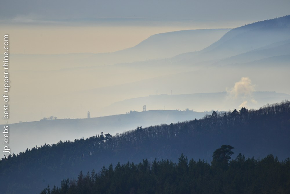 Blue horizons over the Vosges mountains