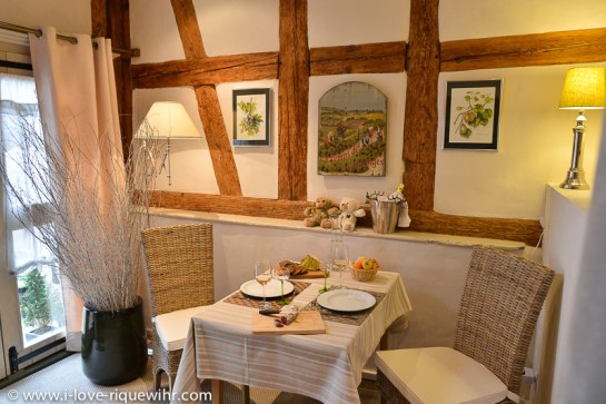 Our new romantic Little Bear holiday apartment in Riquewihr