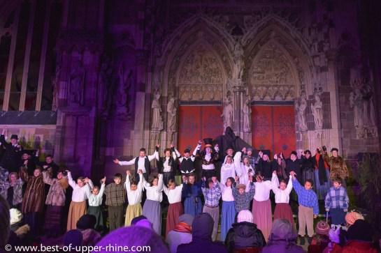 Christmas celebration in Thann, Alsace