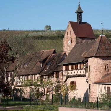 Part of the ramparts of Riquewihr
