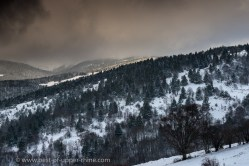 Snow storm is approaching in the Vosges