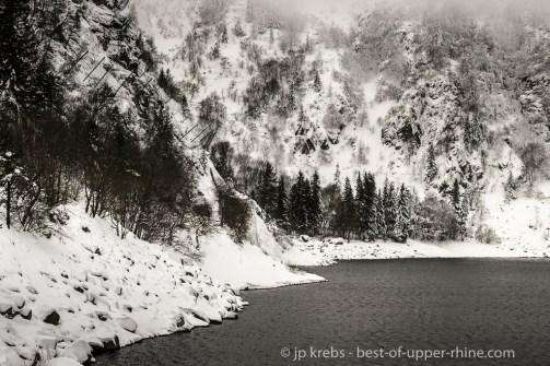 Winter landscape at Lac Blanc
