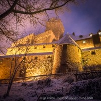 A marvel in Alsace: Haut-Koenigsbourg castle under the snow …