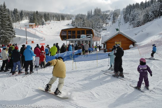 The Lac Blanc ski area offers a variety of snow sports available to all.
