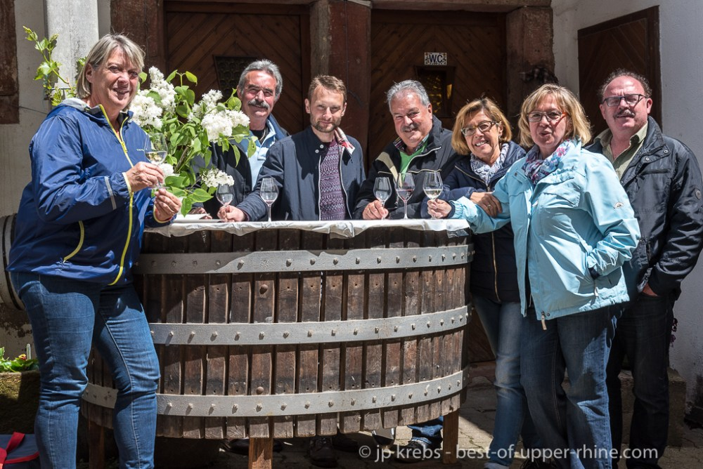 Barbecue of the Pentecost 2016 at the Domaine Paul Fahrer in Orschwiller : Saar visitors who come to Alsace every year ...