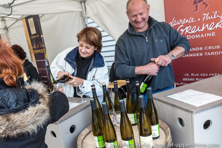 10th anniversary of the first vinification at the Domaine Laurence & Philippe Greiner in Riquewihr