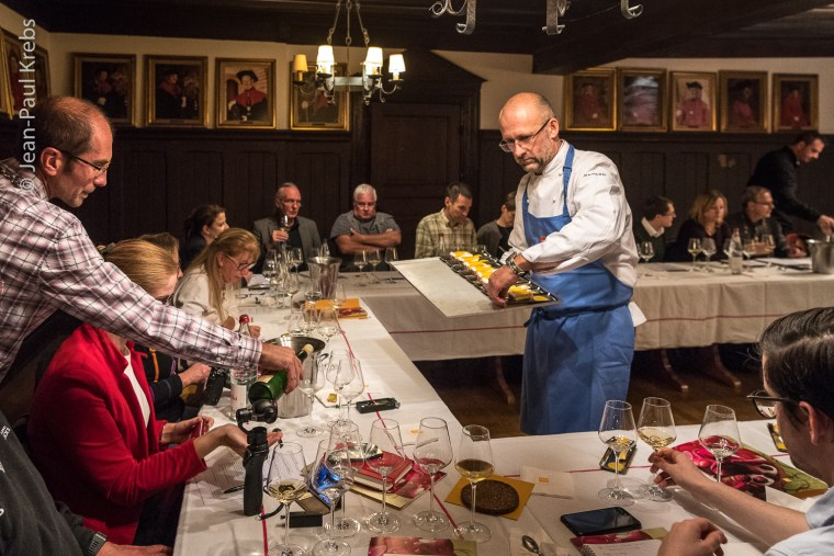 Workshop pairing Alsace wine with dessert and chocolate.