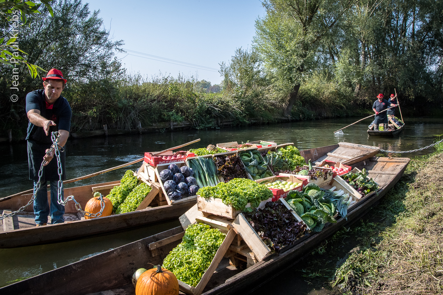 Sélestat is a famous place for vegetables. In former times they were ferried by small boats.