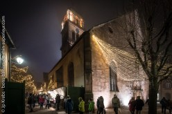 Church of Kaysersberg and Christmas market