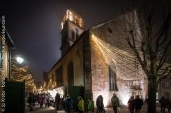 Church of Kaysersberg and Christmas market